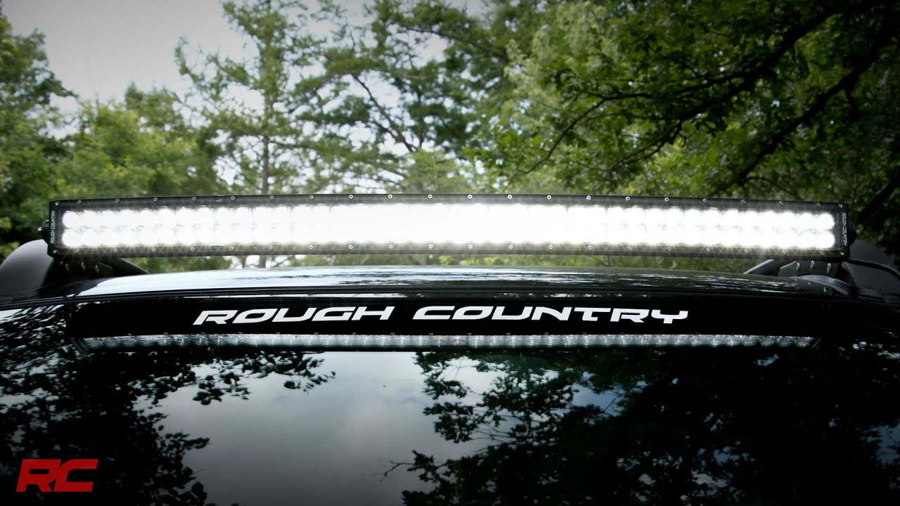 40 inch curved dual row cree led light bar by rough country youtube 40 inch curved dual row cree led light bar by rough country mozeypictures Images