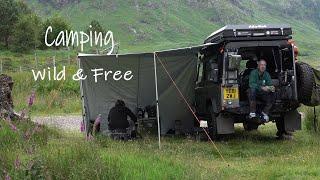 Wild Camping 4x4 Caṁper Roadtrip Scotland