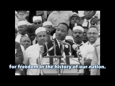 I Have a Dream speech by Martin Luther King .Jr HD (subtitled) (Remastered)
