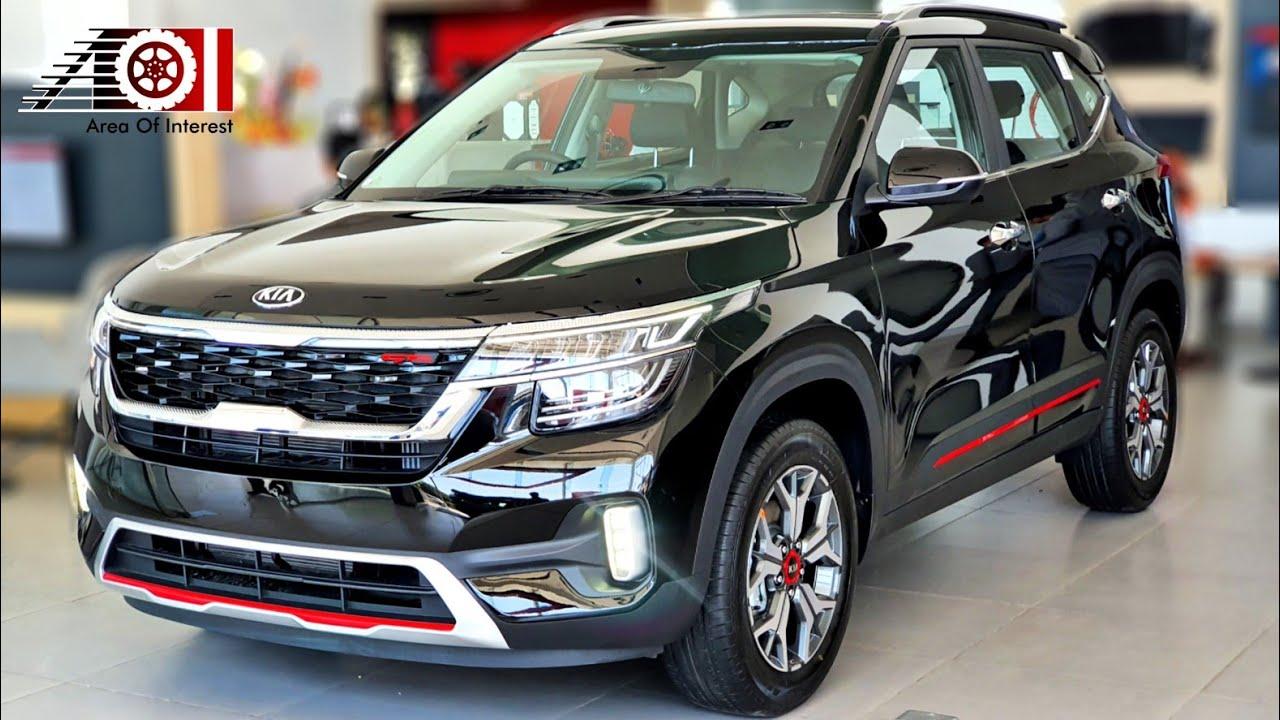 2020 Kia Seltos Gtk Black Colour New On Road Price List Mileage Features Specs Interior Youtube