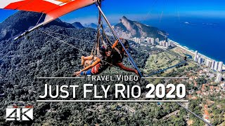 【4K】Drone Footage   JUST FLY RIO with Paulo Celani ..:: Hang Gliding in Rio de Janeiro 2019   BRAZIL