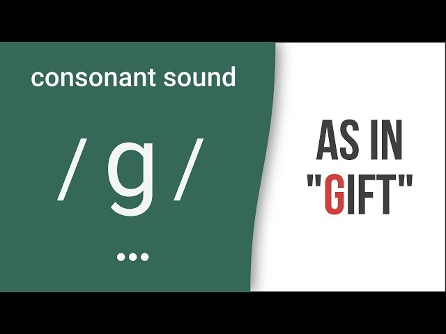 "Consonant Sound /g/ as in ""gift""  American English Pronunciation"