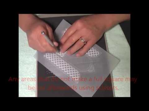 Parchment Craft PCA TP3328E Lattice Arched Windows Demo