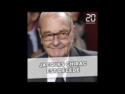 Jacques Chirac est décédé
