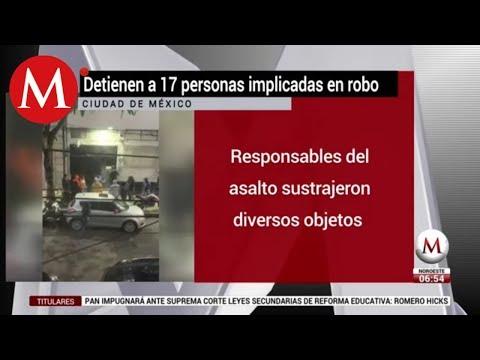 Detienen a 17 por robo a casa en la alcaldía Miguel Hidalgo
