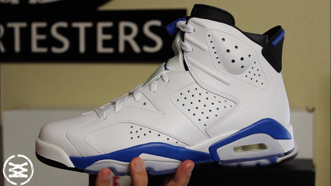new arrival c6510 8e0e1 Air Jordan 6 Retro  Sport Blue