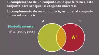 Diagrama de venn videos complemento de un conjunto en el diagrama de venn nuevo en hd ccuart Images