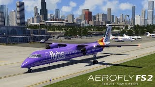 AEROFLY FS 2 Flight Simulator I Dash-8 Q400 ► Erstflug in Chicago Meigs Field [Deutsch/HD]