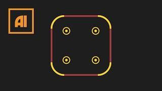 как сделать прямоугольник со скругленными углами в иллюстраторе  Урок Adobe Illustrator
