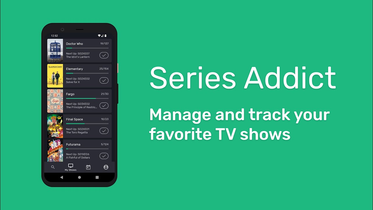 series addict: android app for tv series - youtube