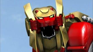 Lion Zord and Legendary Wild Force Megazord Debut Fight (Power Rangers Super Megaforce)
