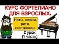 2 урок Quot ОСНОВНЫЕ ЗНАНИЯ Quot 1 часть УРОКИ ФОРТЕПИАНО ДЛЯ ВЗРОСЛЫХ Quot Quot PRO PIANO Quot mp3