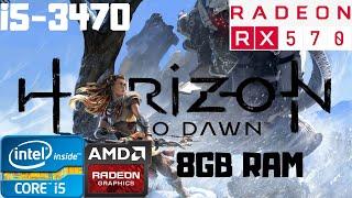 Horizon Zero Dawn All Settings   i5-3470   RX 570 8GB   8GB RAM DDR3   1080p Gameplay PC Benchmark