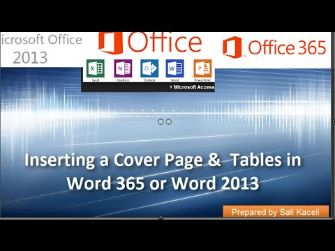 Word 2013 Tutorial Inserting Page Breaks in a Document - YouTube