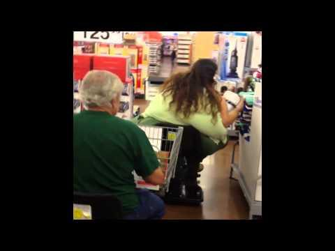 Fat Woman in Walmart on Scooter