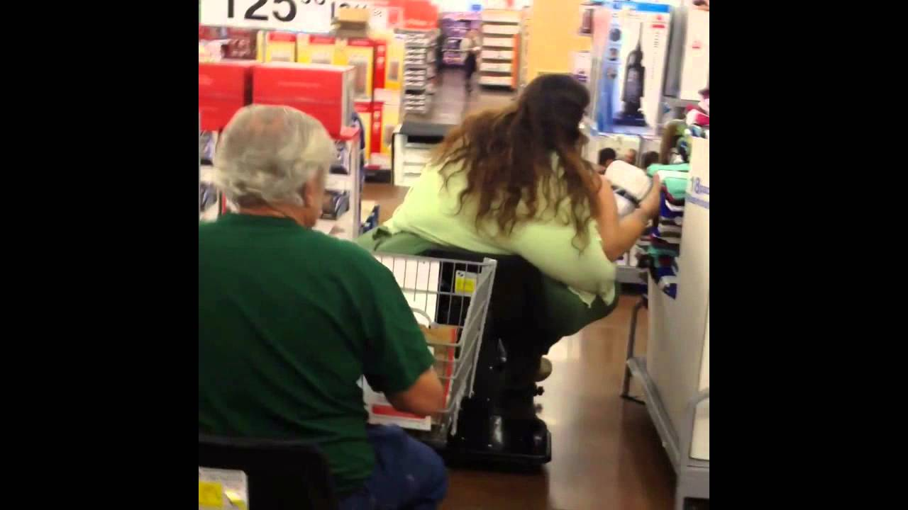 Fat Woman in Walmart on Scooter  YouTube