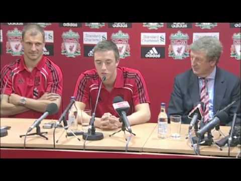 Liverpool new boys Danny Wilson and Milan Jovanovic
