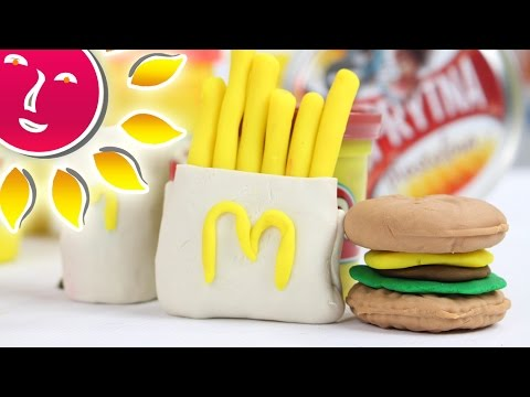 How to make McDonalds Happy Meal set from Play Doh compound?