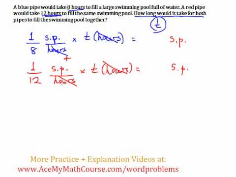 Rate of Work (Word Problem) - Example #2: Quick Explanation! - YouTube
