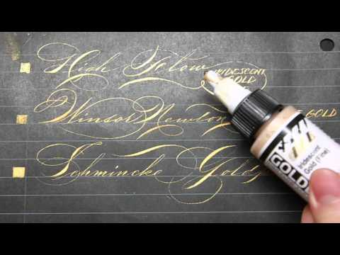 Guide to Gold: Gold Ink/Gouache/Pen Reviews for Calligraphers