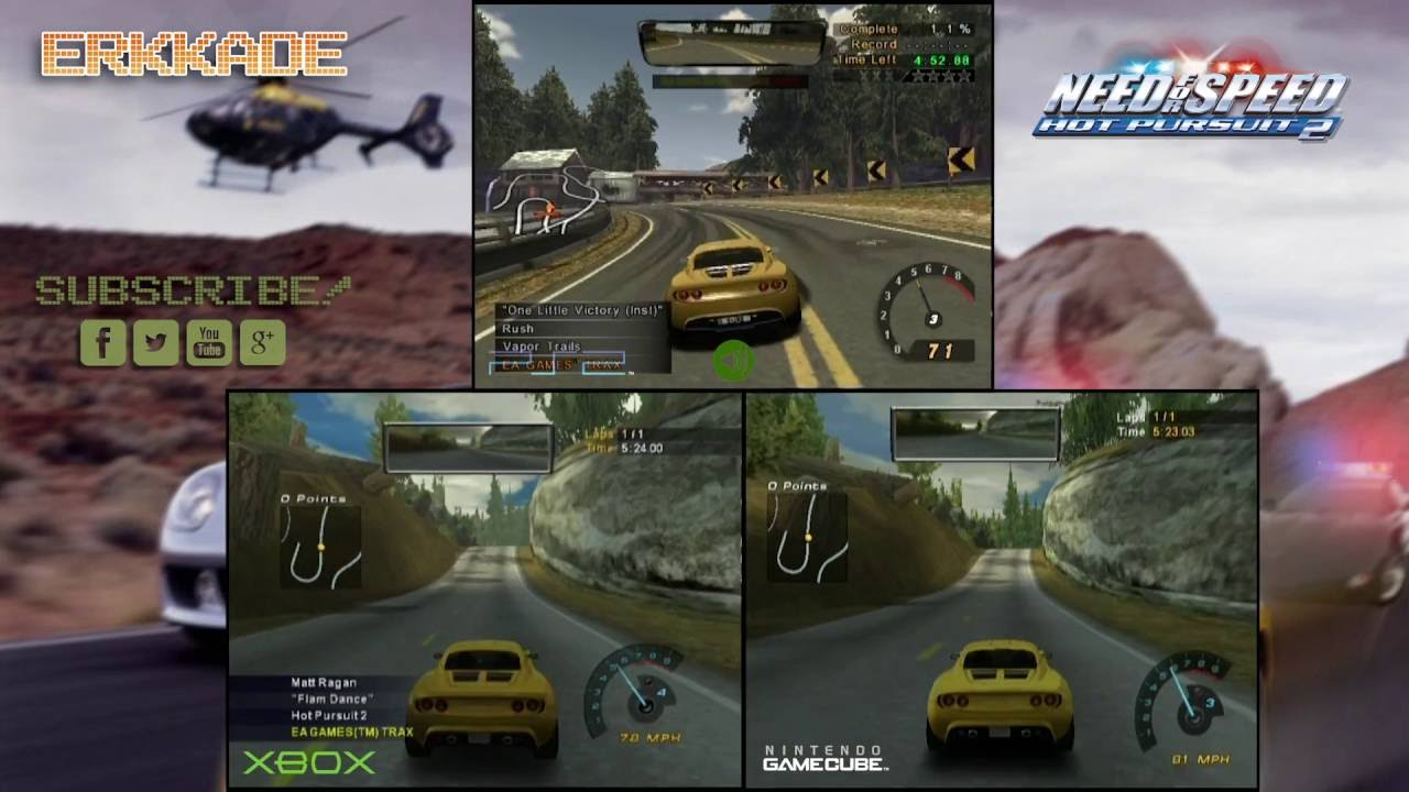 Comparison Need For Speed Hot Pursuit 2 Ps2 Vs Xbox Vs Gc Youtube