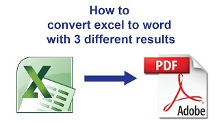 How to convert Excel to PDF without Converter