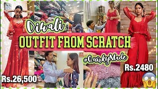 DIY: DIWALI OUTFIT From Scratch! #QuirkyMade ft. DanielWellington   ThatQuirkyMiss