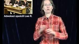 Adwokaci opuścili Lwa R. (w języku migowym PJM, ONSI tv)