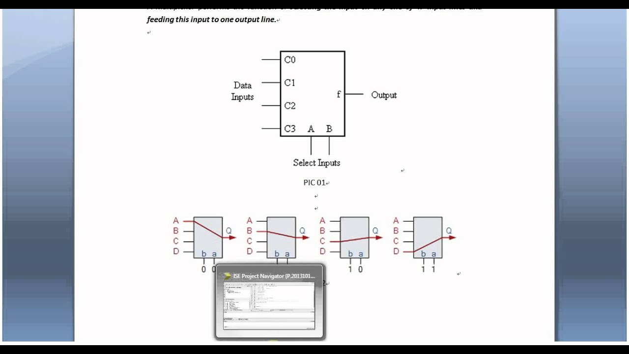 Xilinx ISE Verilog Tutorial 01: 4 to 1 Channel Multiplexer on