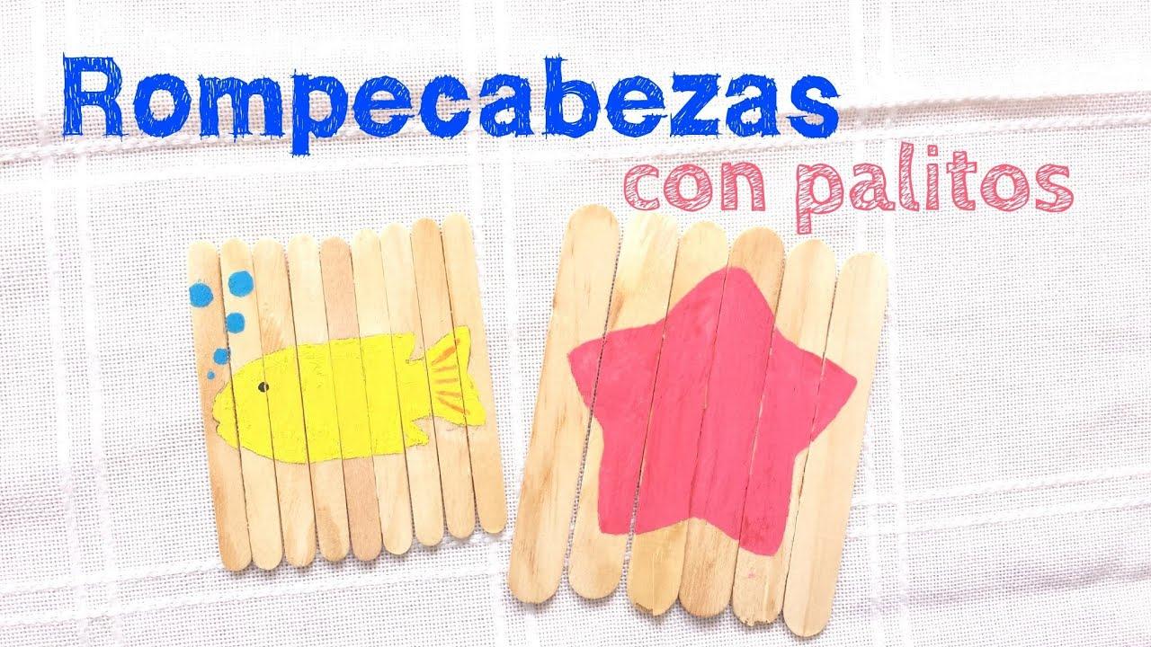 Rompecabezas con palitos youtube - Manualidades con madera faciles ...