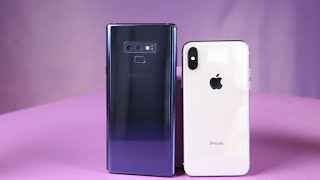 Galaxy Note 9 vs. iPhone X: ¿Cuál es mejor celular?