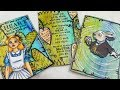 Alice in Wonderland ATCs PROCESS: Topflight Stamps DTP