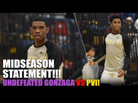 Statement Game!! Paul VI vs. Undefeated Gonzaga!! Jeremy Roach, Slater Show Out!!