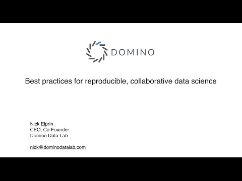 Webinar: Best Practices For Reproducible, Collaborative Data Science