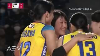 石川真佑 Ishikawa Mayu debut in the highest volleyball league in Japan (2018-2019)