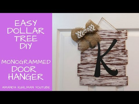 DIY FARMHOUSE | Monogram Door Hanger | Dollar Tree Project!