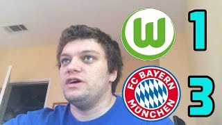 Wolfsburg vs FC Bayern(1-3) Lewandowski and James Rodriguez GOALS REACTION! 2018-2019 Bundesliga