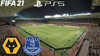 (PS5) FIFA 21 Wolverhampton Wolves vs Everton FC (4K HDR 60fps) Premier league PREDICTION HIGHLIGHTS