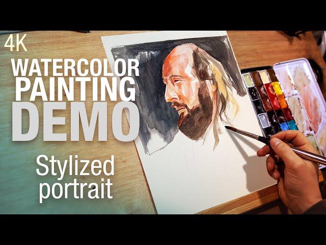 🎨 Demo aquarelle - peindre un profil stylisé