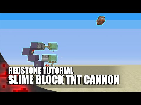 How To Build A Slime Block Tnt Cannon Easy