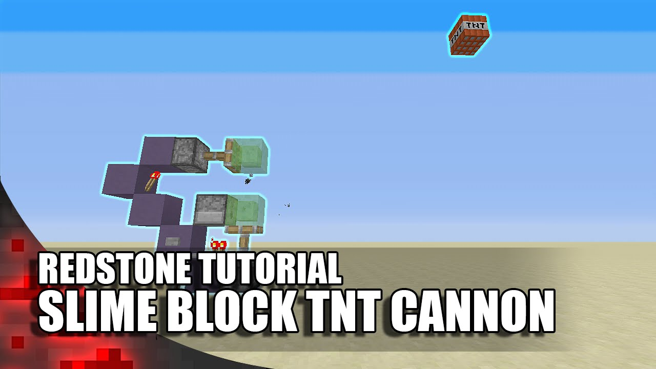 Minecraft Simple Slime Block Tnt Cannon Expandable Youtube Three Way Switch