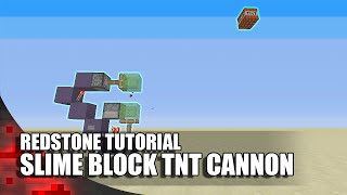 Minecraft: Simple Slime Bl๐ck TNT Cannon! (Expandable!)