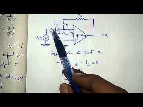 operational amplifier as differentiator