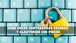 كيفية إنشاء كلمات مرور آمنة و عشوائية مع PWGEN