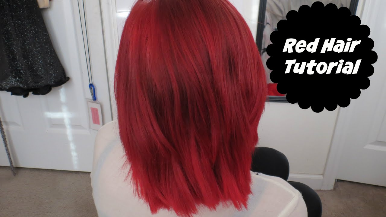 How I Dyed My Hair Red Loreal Hicolor Highlights Alyssa Nicole