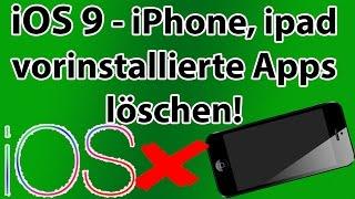 Vorinstallierte Apps löschen iphone und ipad / iOS Apps löschen / iPhone iPad iPod touch