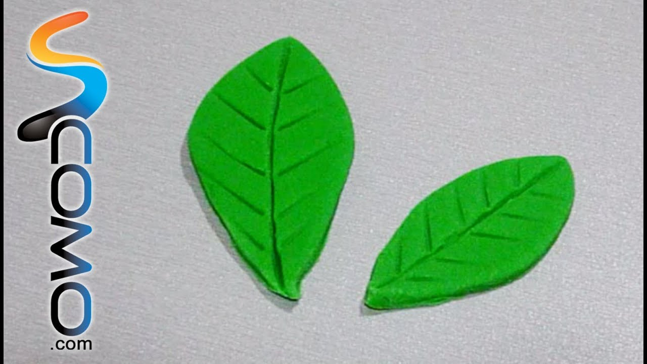Hacer hojas con fondant verde youtube for Como hacer color verde