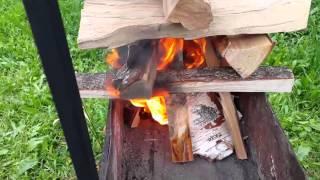 Как правильно складывать дрова в мангале?
