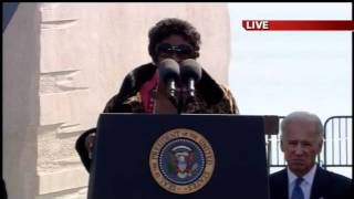 OBAMA CATCHES THE SPIRIT GHOST AT THE MLK DEDICATION! A MUST SEE!