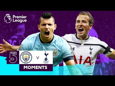 Manchester City v Tottenham Hotspur   Top 5 Moments